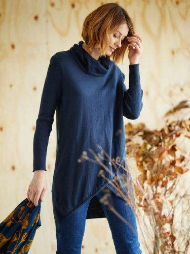 Thought Clothing Unnur Tunic Jumper in Midnight Navy 4367